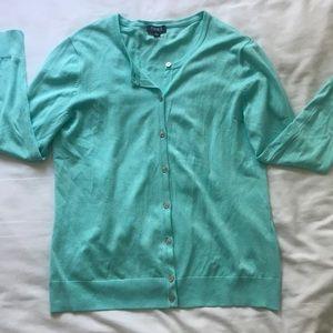 Jones New York Turquoise Cardigan